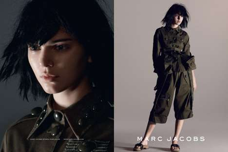 Understated Military Apparel - The Latest Marc Jacobs Campaign Features Models Without Makeup