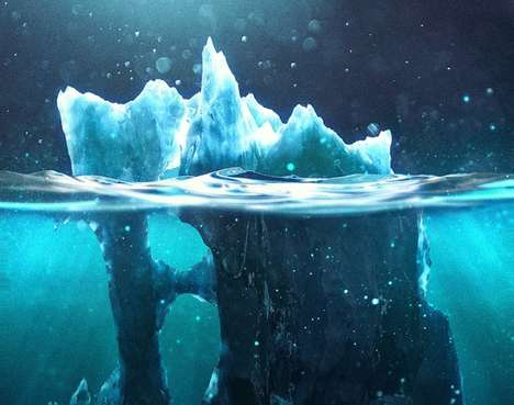 Digital Iceberg Paintings