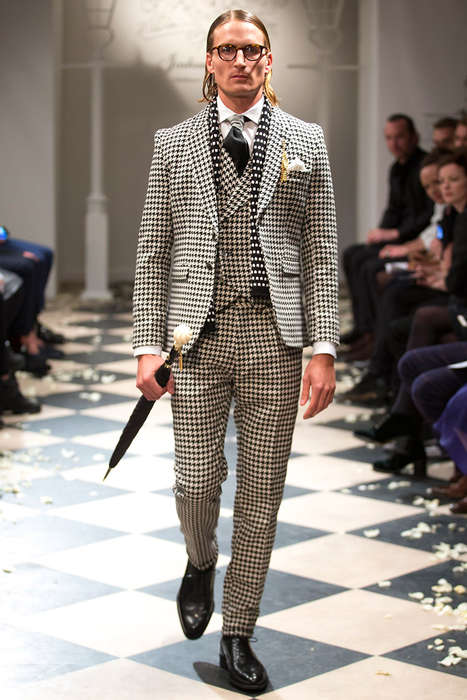 Gentlemanly Houndstooth Menswear