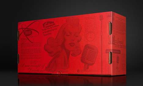 Retro Rebranded Packaging - This Shure Special Edition Microphone Gets a Vibrant Vintage Image