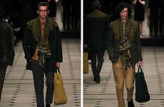 Bohemian Gypsy Menswear - This Burberry Prorsum Fall Collection is Eclectic and Texture-Enriched