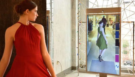 Outfit-Modeling Mirrors - Neiman Marcus' Memory Mirror Digitally Compares Outfits