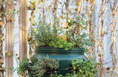Composting Vertical Gardens - The Balkonton Garden Contains a Home Compost to Feed Organic Waste