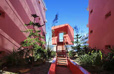 Modernist Pink Residences - Pietri Architects' Latest Project Boasts an Unexpected Facade Shade