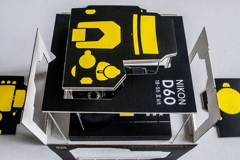 Dual-Purpose Camera Manuals - Karin Hilgenkamp Designs DSLR Packaging that Doubles as Instructions