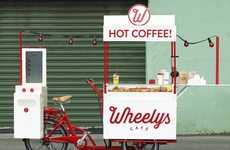 Coffee-Carrying Trikes - The Wheelys 2 Electric Trike Serves Coffee On The Go