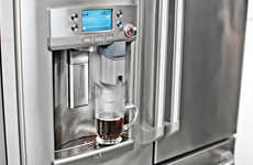Coffee Brewing Fridges - The GE Cafe Series Comes with an Integrated Keurig Machine