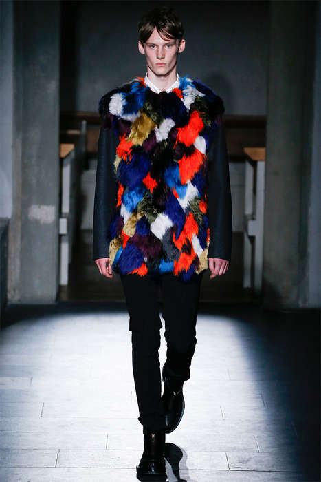 Patterned Fur Menswear - The Latest Marni Menswear Collection Boasts Opulent Textures