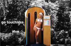 Touchless Sunblock Booths - This Sunscreen Application Stall Works Similarly to a Spray Tan