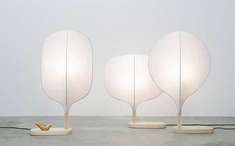 Beautiful Plume Lamps