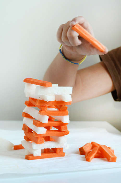 Vegetable Stacking Games - This DIYJenga-Inspired Game Concludes with a Healthy Snack