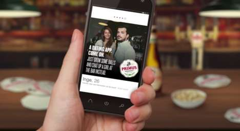 Intoxicating Dating Stunts - Primus' Mobile Marketing Stunt Targets Guys on Tinder