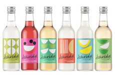 Refreshing Drink Branding - Ashridge Offers Organic Sparkling Options That Are Vibrantly Packaged