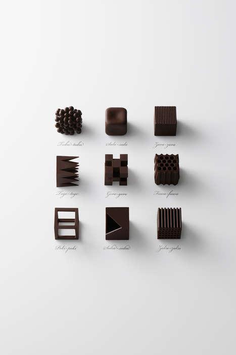 Textural Chocolate Cubes