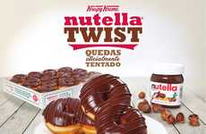 Twisted Hazelnut Donuts - This Nutella Dessert Combines a Nutty Spread with a Krispy Kreme Base