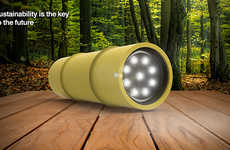 Eco-Friendly Way-Finders - This Bamboo Flashlight is an Opportunity Seized for Minimizing Materials