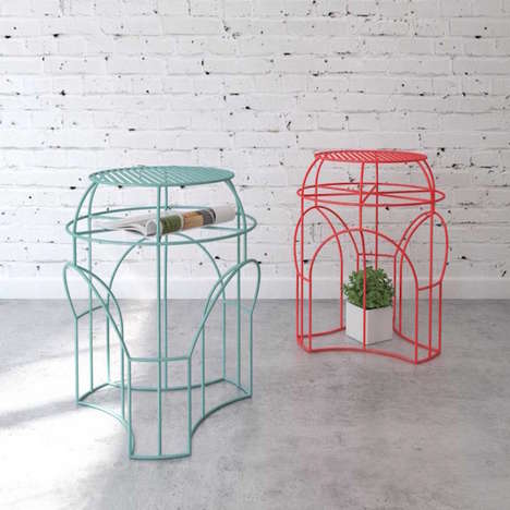 Whimsical Wire Tables