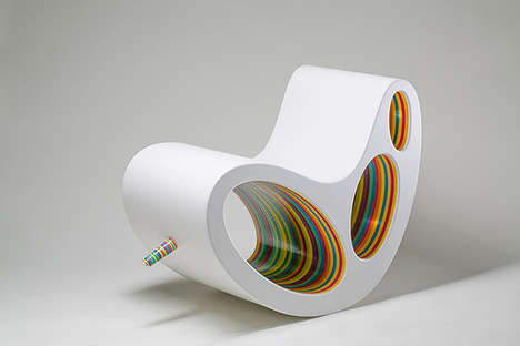 Dr Seuss Seating - This Rainbow Abstract Chair is Sweet Enough to Furnish a Candy Store
