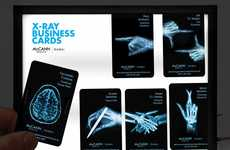X-Ray Business Cards - These Cool Business Card Designs Mimic Medical Imagery