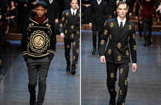 Opulent Urban Apparel - The Latest Dolce and Gabbana Menswear Collection is Versatile