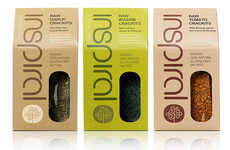 Eco-Friendly Superfood Packaging - Inspiral's New Branding is Streamlined and Sustainable