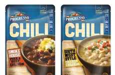 Compact Chili Pouches - Progresso Introduces Chili Products With an Interesting Packaging Concept