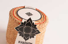 Sustainable Rice Packaging - The Khaohom Concept Serves as a Green Container and Even a Rice Cooker