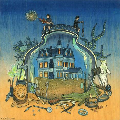 Pop Culture Terrarium Illustrations