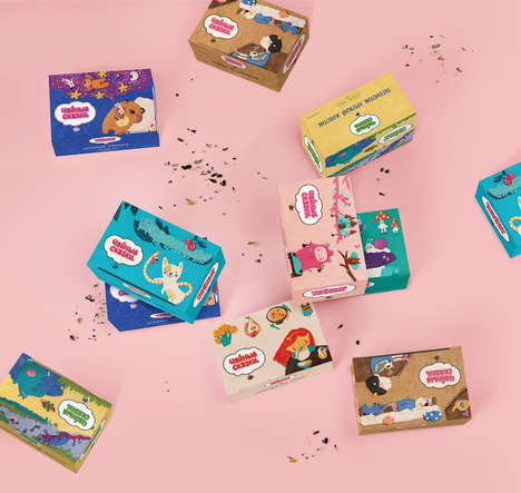 Kiddie Herbal Teas - This Packaging Was Developed as a Fun Way to Present Tea for Kids