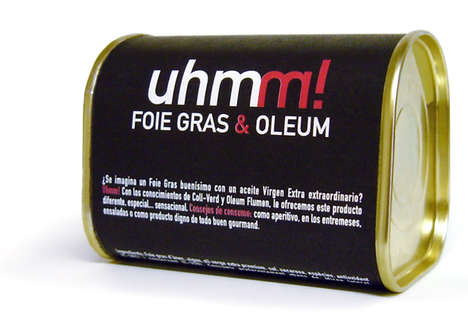Casual Foie Gras Cans - Uhmm's Gourmet Food Packaging Adopts Bold, Punchy Graphics & Text