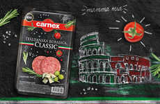 Sliced Gourmet Sausage - Quality Carnex Meats Are Pre-cut for the Convenience of Busy Connoisseurs