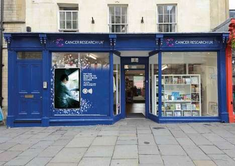 Contactless Donation Shops - This Interactive Display Window Collects Contactless Payment Donations
