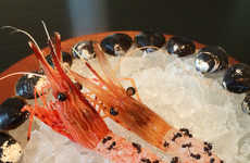 Ant-Covered Shrimp Delicacies - This Japanese Shrimp Recipe Features an Insect Garnish