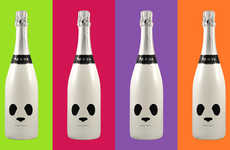 Bear-Faced Bottles - Panda Wine Packaging Employs Cute Features to Appeal to Young Drinkers