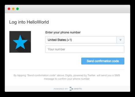 Password-Avoiding Apps - Twitter Digits Allows People to Log Into Apps and Services Hassle-Free