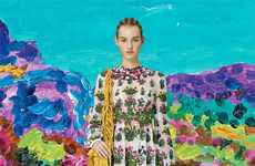 Artistic Fashion Pairings - The Miss Moss Art of Valentino Post Displays High Fashion Mash-Ups