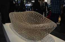 3D-Printed Loungers - This Piece of 3D Printed Furniture Takes Over 800 Hours to Create