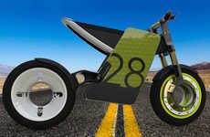 Bespoke Electric Bikes - Customizable Motorcycle Body is Ideal for Ads and Consumer Personalization