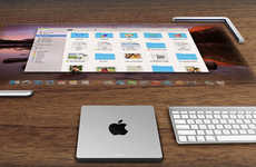 Flexible Projected Computers - All-in-One Apple Concept is Convenient as iPad and Powerful as iMac