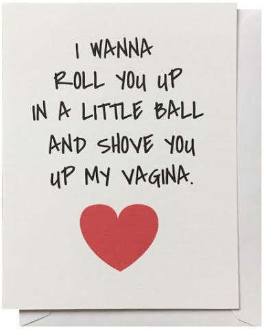 Tawdry Valentine Cards