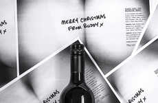 Photocopied Bum Branding - Bottoms Up Wine Packaging Warns of Uninhibited Office Party Behavior