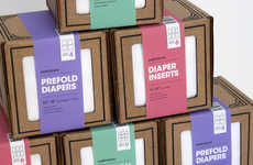 Eco Diaper Packaging - This Range of Reusable Diapers is Packaged Sustainability