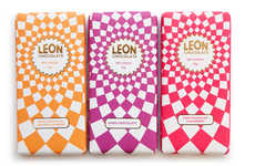 Whimsical Chocolate Packaging - Leon's Chocolate Bars Feature a Dizzying Package Design