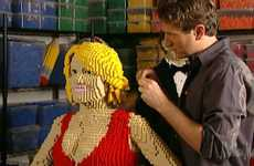 Fashion Lego Sculptures - Neiman Marcus Life Size 3D Portraits