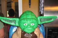 Star Wars Baking - Giant Yoda Birthday Cake