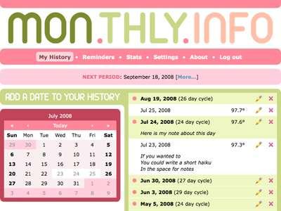 Online Menstrual Cycle Planners