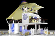 Pop-Up Shipping Container Nightclubs - Aqua by Grandstand
