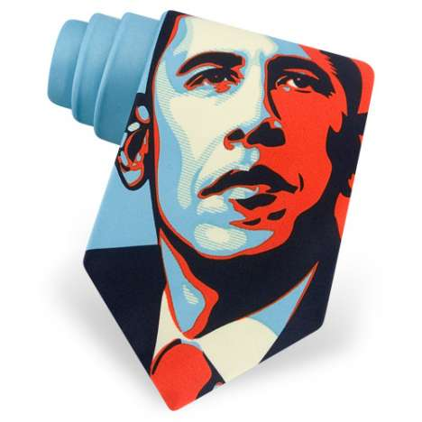 Political Neckties - Shepard Fairey Obama Portait Tie