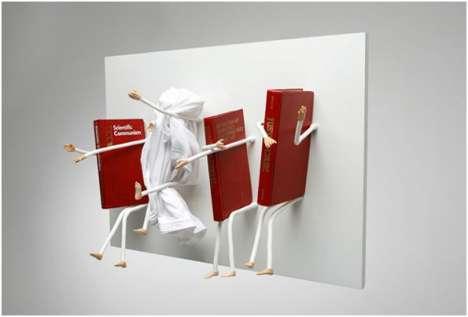 Bent Nail Bookshelves