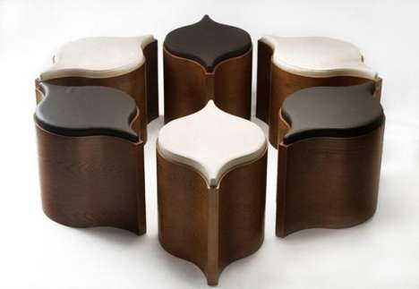 Wave-Inspired Stools